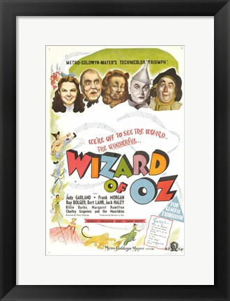 Framed Wizard of Oz Colorful Print