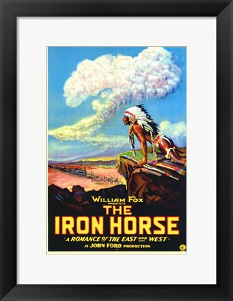 Framed Iron Horse Print