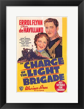 Framed Charge of the Light Brigade - Warner Bros Print