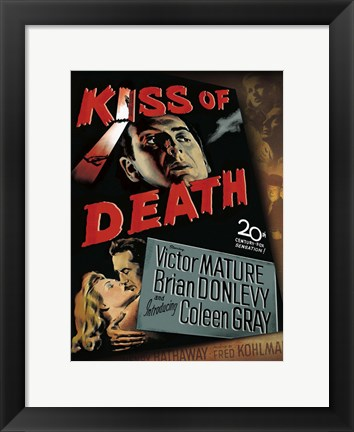 Framed Kiss of Death Victor Mature Brian Conlevy Print