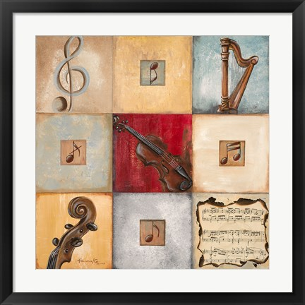Framed Feel the Music I Print