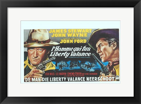 Framed Man Who Shot Liberty Valance Print