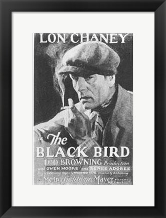 Framed Blackbird Lon Chaney Print