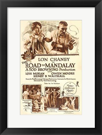 Framed Road to Mandalay Print