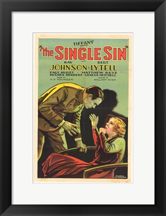 Framed Single Sin Print