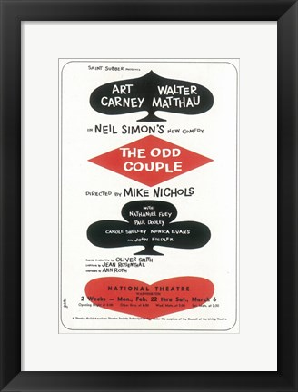 Framed (Broadway) Odd Couple Print