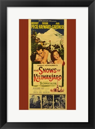 Framed Snows of Kilimanjaro Print