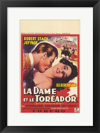 Framed Bullfighter and the Lady Print