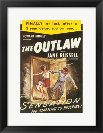 Framed Outlaw Sensation! Print
