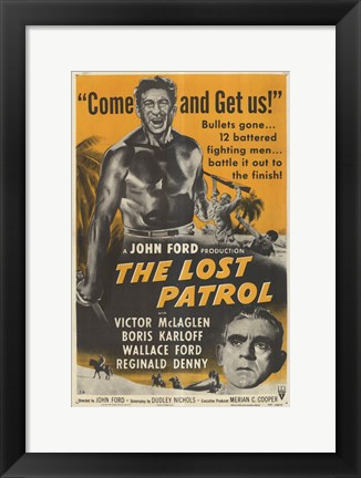 Framed Lost Patrol - Come and get us! Print