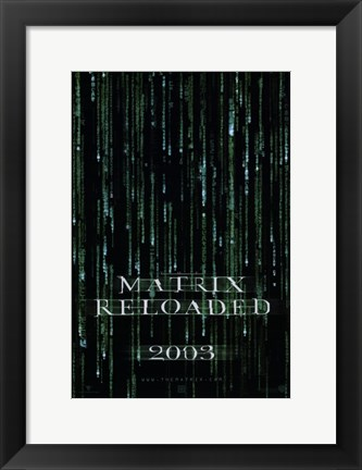 Framed Matrix Reloaded Logo Print