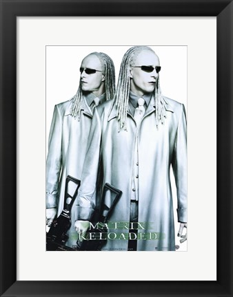 Framed Matrix Reloaded the Twins Print
