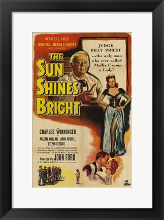 Framed Sun Shines Bright Print
