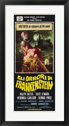 Framed Horror of Frankenstein Print
