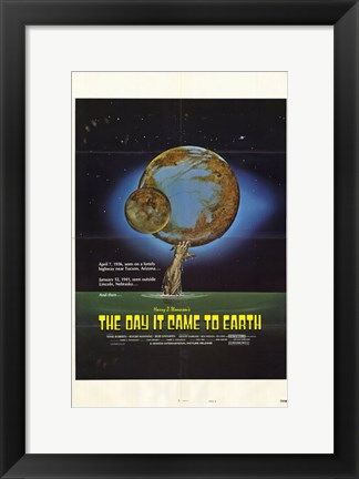 Framed Day It Came to Earth Print
