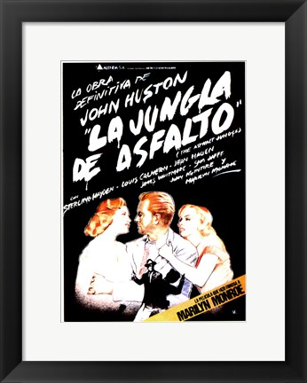 Framed Asphalt Jungle Spanish Print