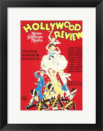Framed Hollywood Review Print