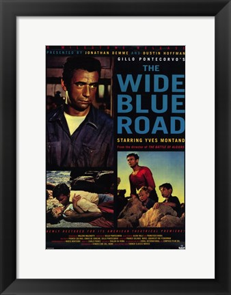 Framed Wide Blue Road Print