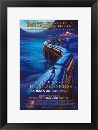 Framed Polar Express Northpole Print