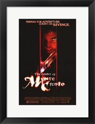 Framed Count of Monte Cristo - red face Print