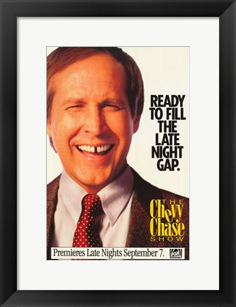 Framed Chevy Chase Show Print