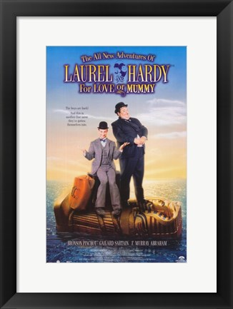Framed All New Adventures of Laurel & Hardy: For Love or Mummy Print