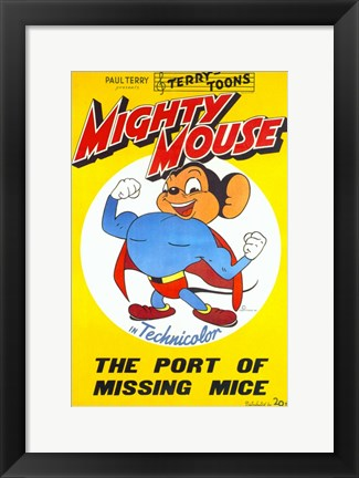 Framed Port of Missing Mice Print