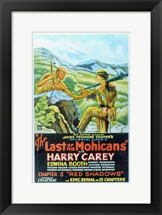Framed Last of the Mohicans - Harry Carey Print
