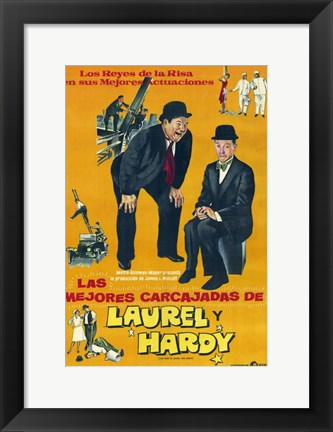 Framed Best of Laurel and Hardy Print