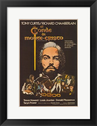 Framed Count of Monte Cristo - Spanish Print