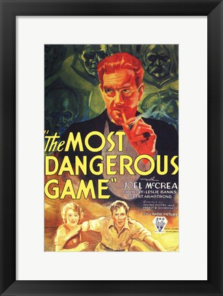 Framed Most Dangerous Game Print
