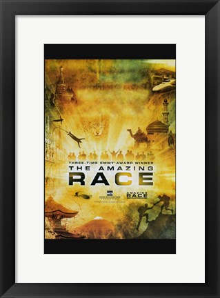 Framed Amazing Race TV Series Print