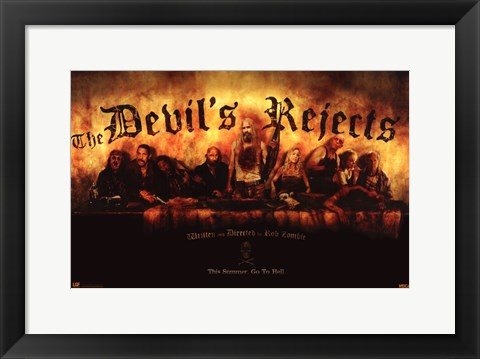 Framed Devil's Rejects Cast Print