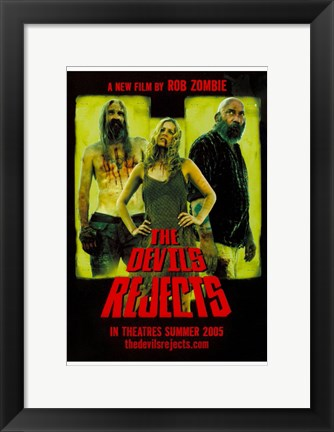Framed Devil's Rejects Sheri Zombie Sid Haig & Bill Moseley Print