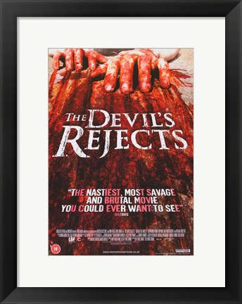 Framed Devil's Rejects Bloody Fingers Print
