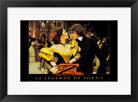 Framed Legend of Zorro - dancing Print
