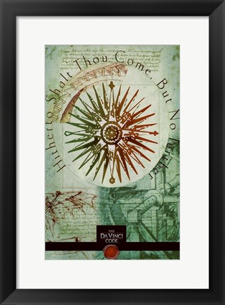 Framed Da Vinci Code Hithto Shalt Thou Come But No Print