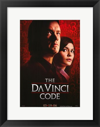 Framed Da Vinci Code Cast Red Print