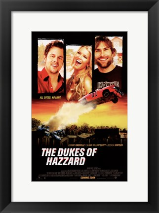 Framed Dukes of Hazzard Print