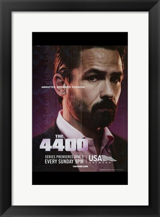 Framed 4400 - purple Print