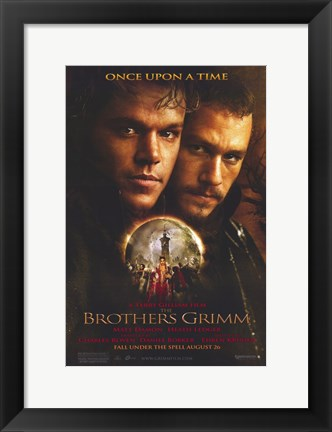 Framed Brothers Grimm - Once apon a time Print