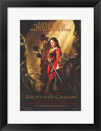 Framed Brothers Grimm - if you go down Print
