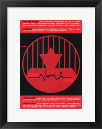 Framed Nomi Song - red and black Print