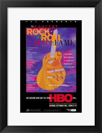Framed Concert for the Rock and Roll Hall of Fame Print