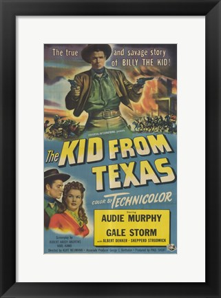 Framed Kid From Texas Print