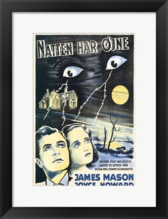Framed Night Has Eyes Print