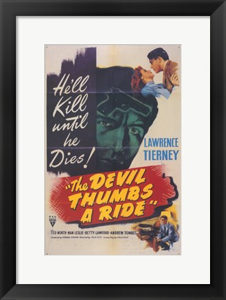Framed Devil Thumbs a Ride Print