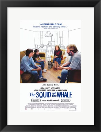 Framed Squid and the Whale Print