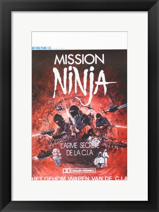 Framed Ninja Mission Print