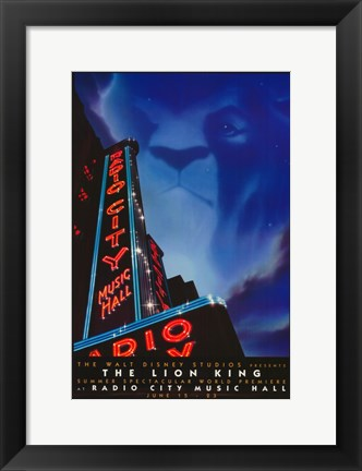 Framed Lion King (Stage Play) Print